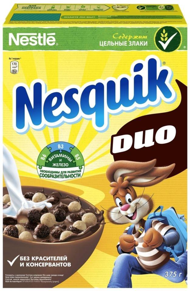 Готовый завтрак Nesquik DUO Шоколадный 375г