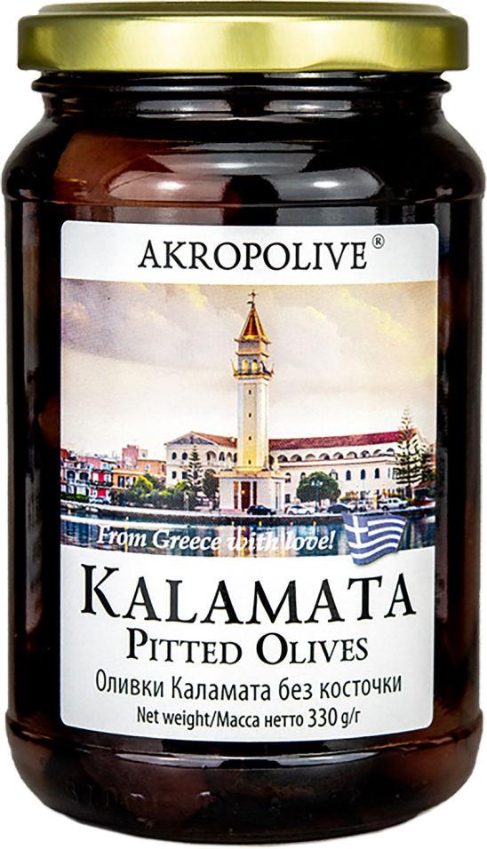 Оливки Akropolive Каламата без косточки 330г