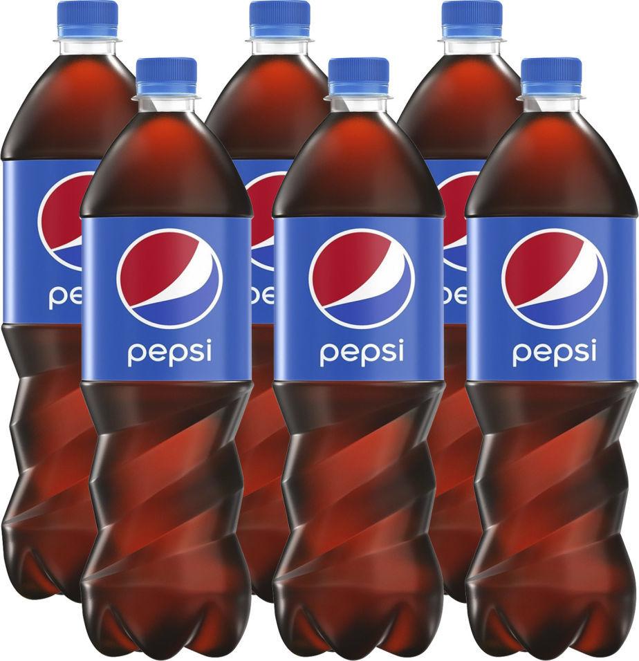 Напиток Pepsi газированный 1л (упаковка 6 шт.)