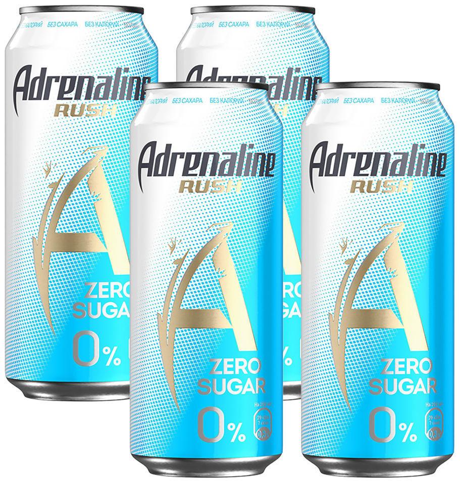 Напиток Adrenaline Rush энергетический без сахара 449мл (упаковка 4 шт.)