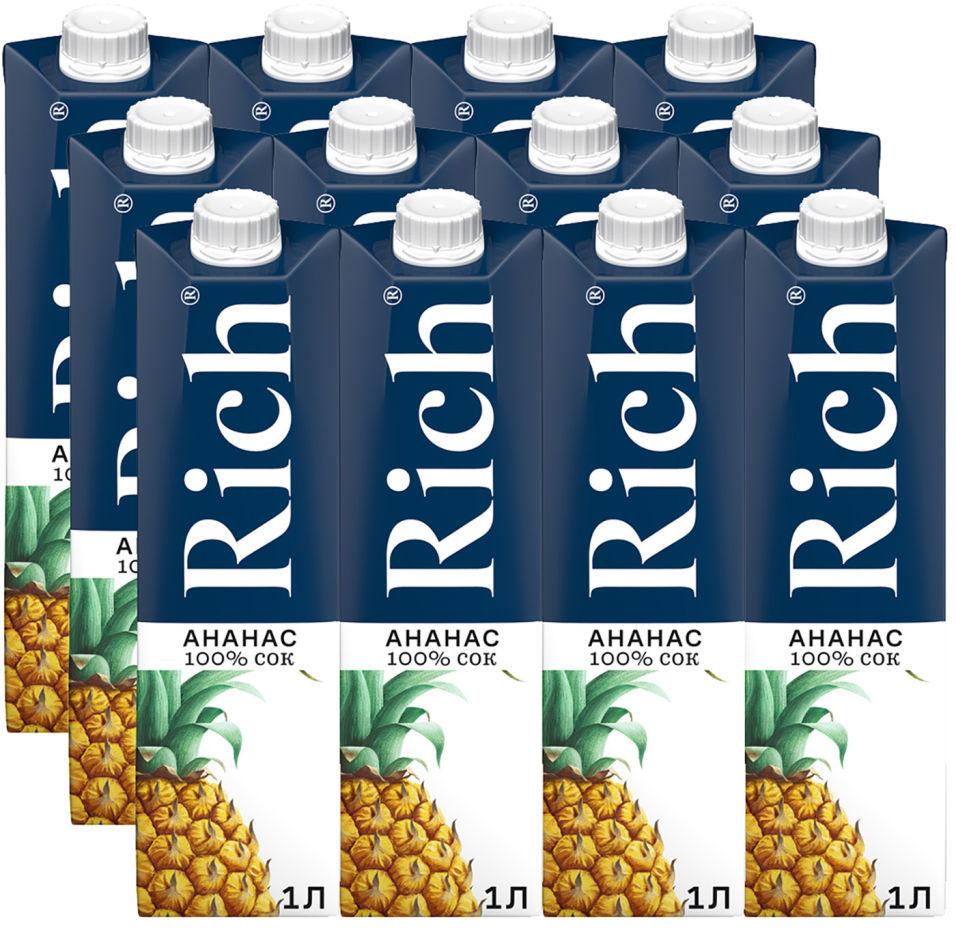 Сок Rich Ананас 1л (упаковка 6 шт.)