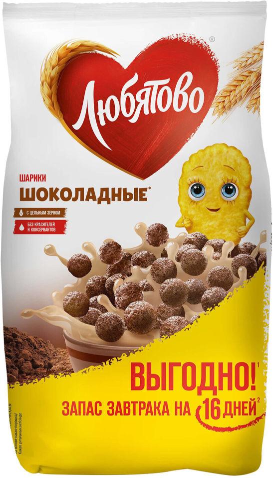 Готовый завтрак Любятово Шарики шоколадные 500г