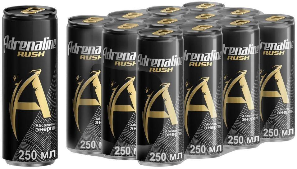 Напиток Adrenaline Rush энергетический 250мл (упаковка 4 шт.)