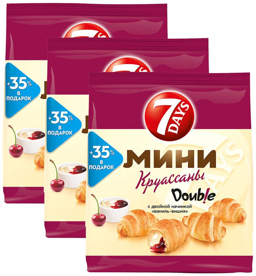 Мини-круассаны 7 Days Double Ваниль-Вишня 300г (упаковка 3 шт.)