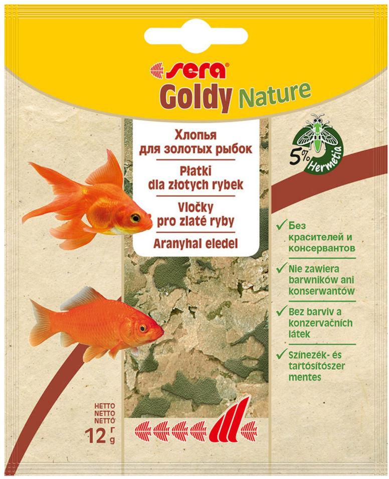 Корм для рыб Sera Goldy в хлопьях 12г