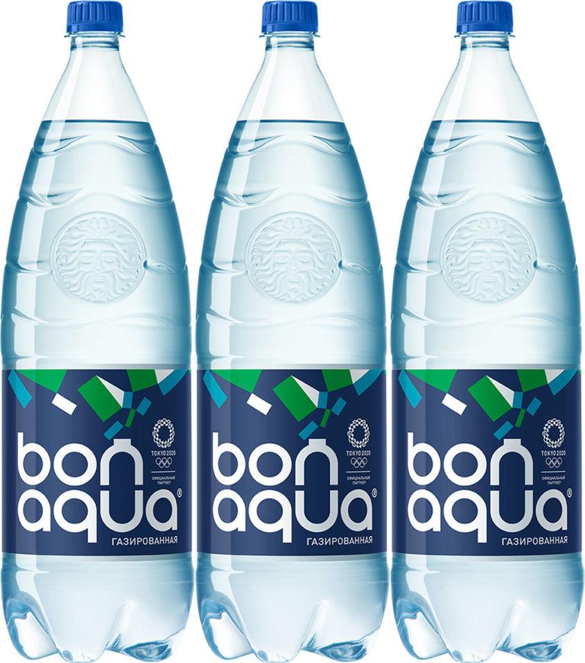 Вода Bonaqua питьевая газированная 2л (упаковка 3 шт.)