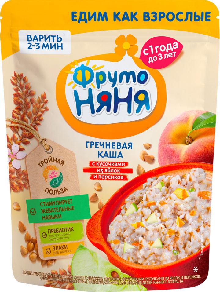 Каша ФрутоНяня Гречневая Яблоко и персик с 1 года 200г (упаковка 2 шт.)