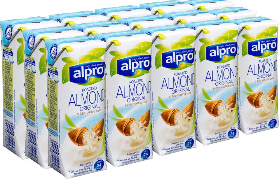Напиток миндальный Alpro без глютена 1.1% 250мл (упаковка 15 шт.)