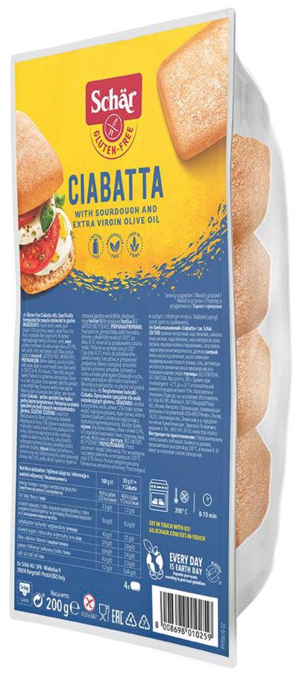 Хлеб Schar Ciabatta Итальянский без глютена 200г