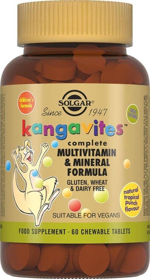 Витамины Solgar Кангавитес с менералами 60 таблеток