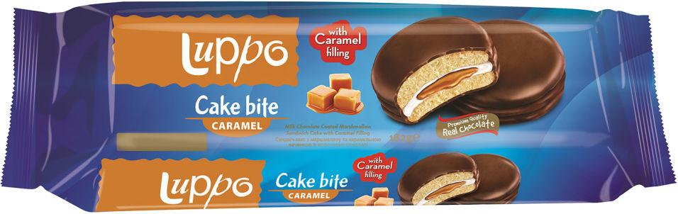 Кекс Solen Luppo caramel с маршмелоу и карамелью 182г