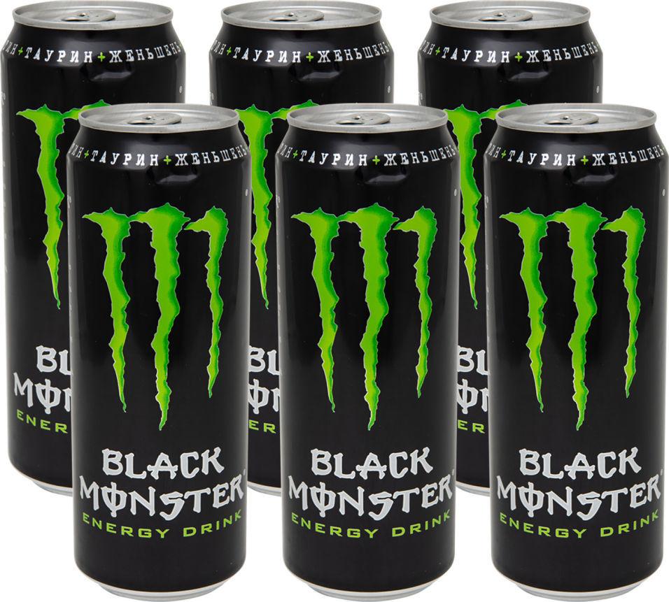 Напиток энергетический Black Monster 449мл (упаковка 12 шт.)