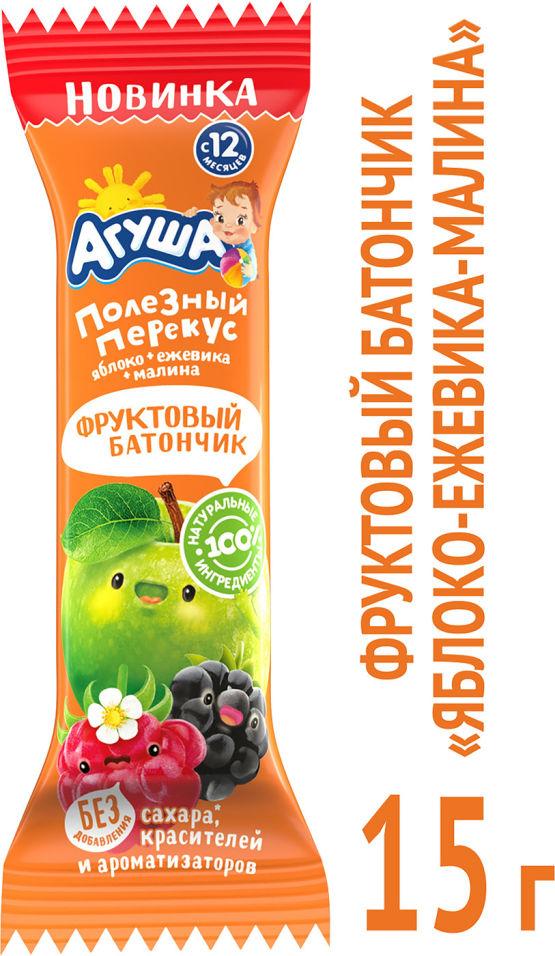 Батончик Агуша Яблоко ежевика малина 15г