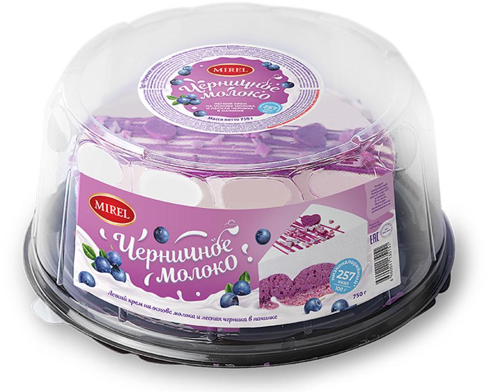 Торт Mirel Черничное молоко 750г