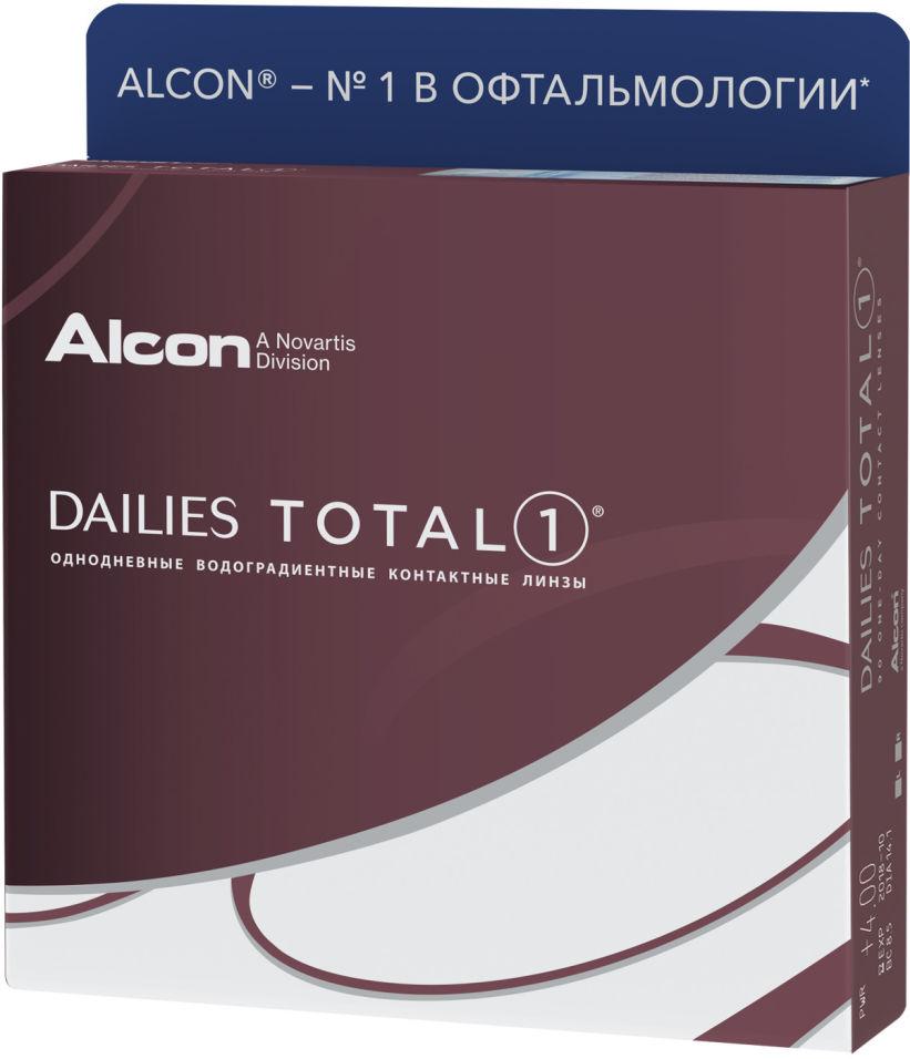 Контактные линзы Dailies Total 1 Однодневные -2.00/14.1/8.5 90шт