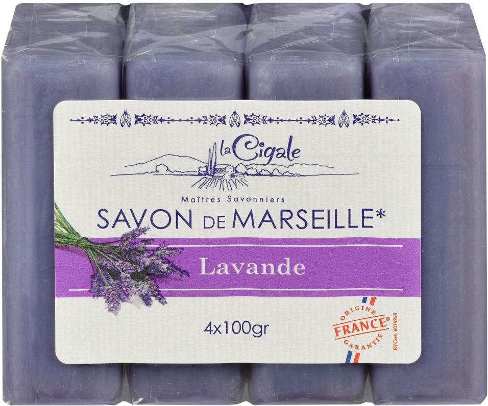 Мыло Savon de Marseille Лаванда 4шт*100г