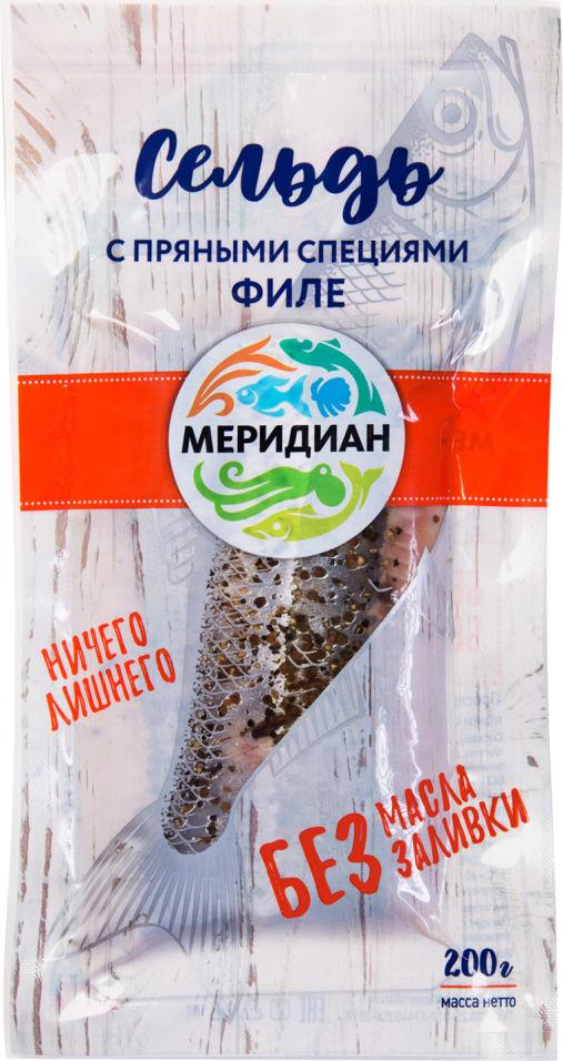 Сельдь Меридиан с пряными специями филе 200г