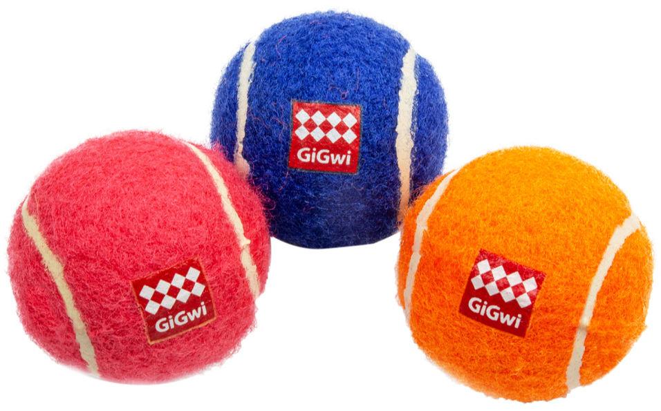 Игрушка для собаки GIGwi 3 Мяча с пищалками