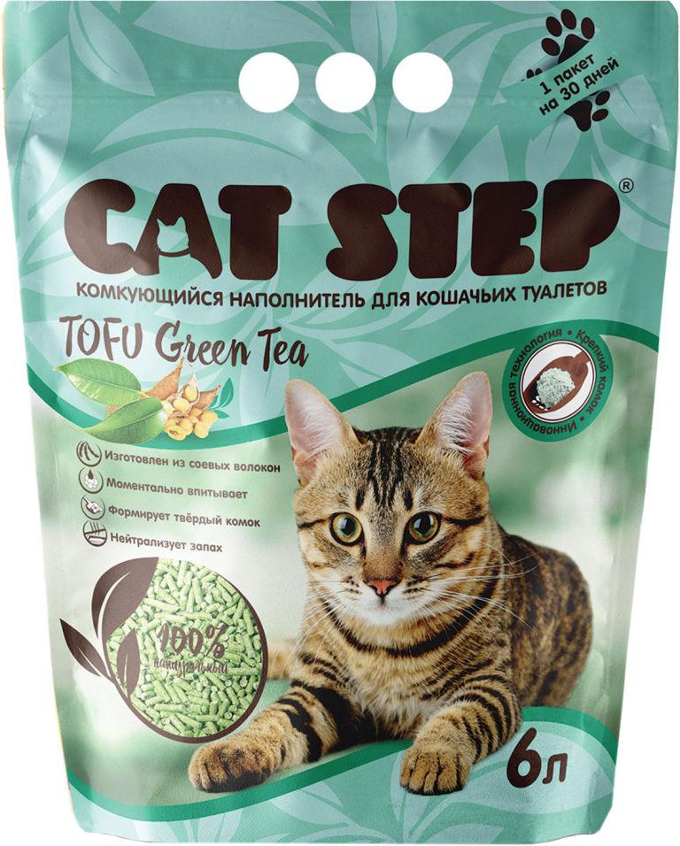 Наполнитель для кошачьего туалета Cat Step Tofu Green Tea 6л