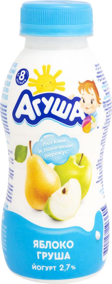 Йогурт Агуша яблоко груша обогащенный пробиотиками 2.7% с 8 месяцев 180г