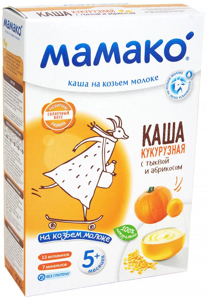 Каша Мамако Кукурузная с Тыквой и Абрикосом на козьем молоке с 5 месяцев 200г (упаковка 2 шт.)