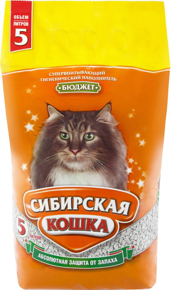 Отзывы о Наполнитель для кошачьего туалета Сибирская кошка Бюджет впитывающий 5л