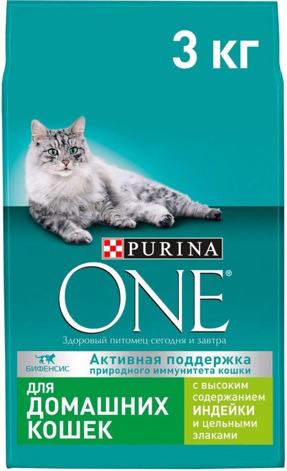Сухой корм для кошек Purina One с индейкой и цельными злаками 3кг