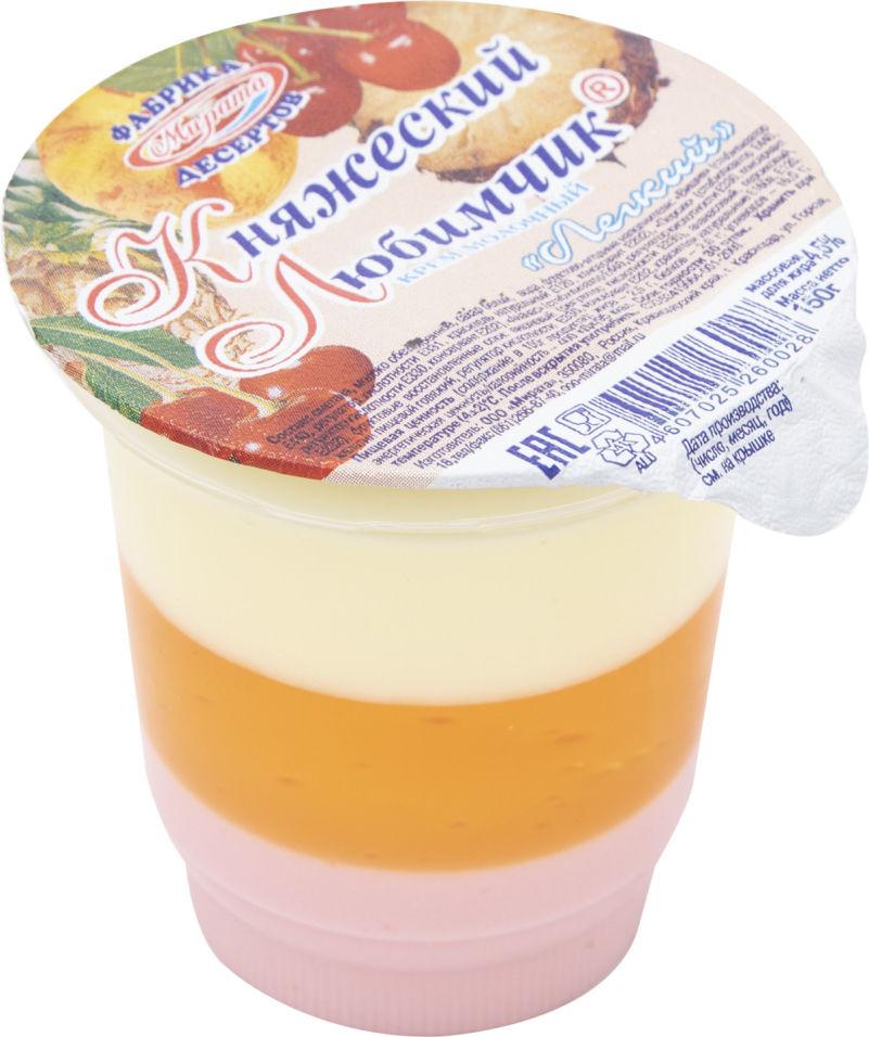 Отзывы о Креме молочном Княжеском Любимчик Легкий 4.5% 150г
