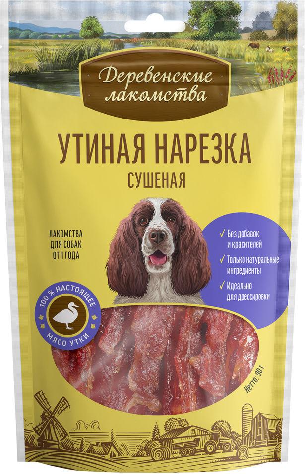 Лакомство для собак Деревенские лакомства Утиная нарезка 90г