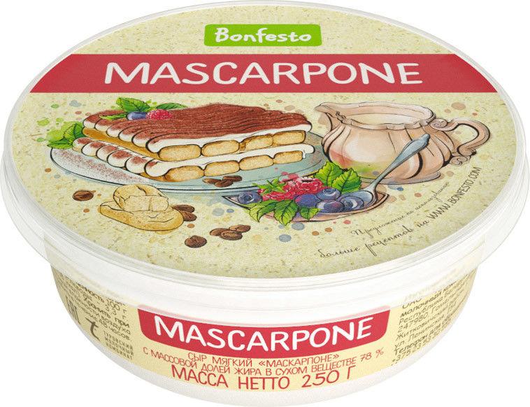 Отзывы о Сыре Bonfesto Маскарпоне 78% 250г