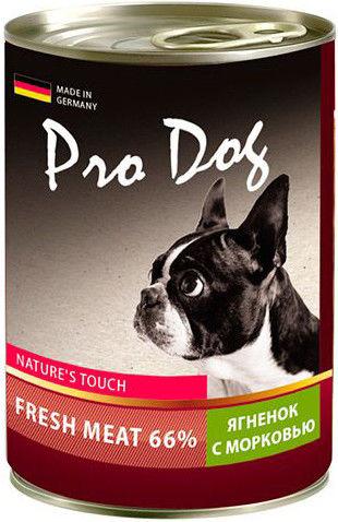 Корм для собак Pro Dog Ягненок морковь 400г