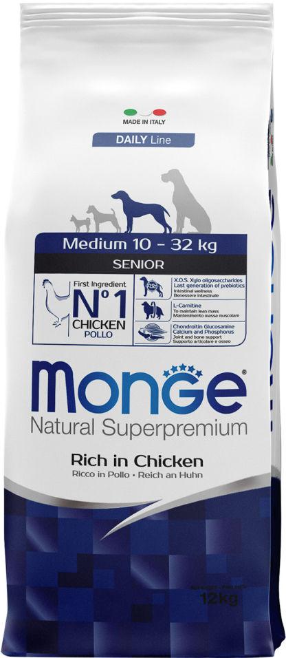 Отзывы о Корме для пожилых собак Monge Dog Medium для средних пород 12кг