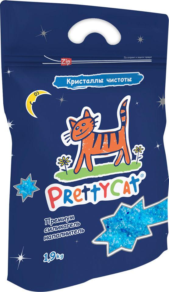 Наполнитель для кошачьего туалета PrettyCat Кристаллы чистоты силикагелевый 1.9кг