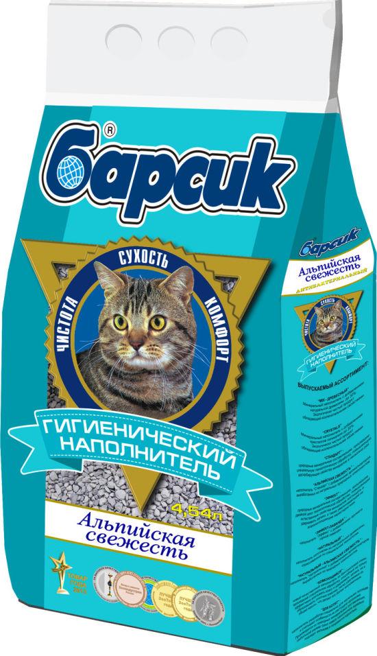 Наполнитель для кошачьего туалета Барсик Альпийская свежесть 4.54л