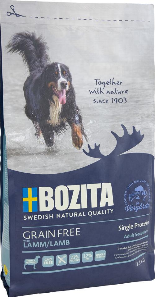 Отзывы о Сухом корме для собак Bozita Grain Free Lamb с ягненком 1.1кг