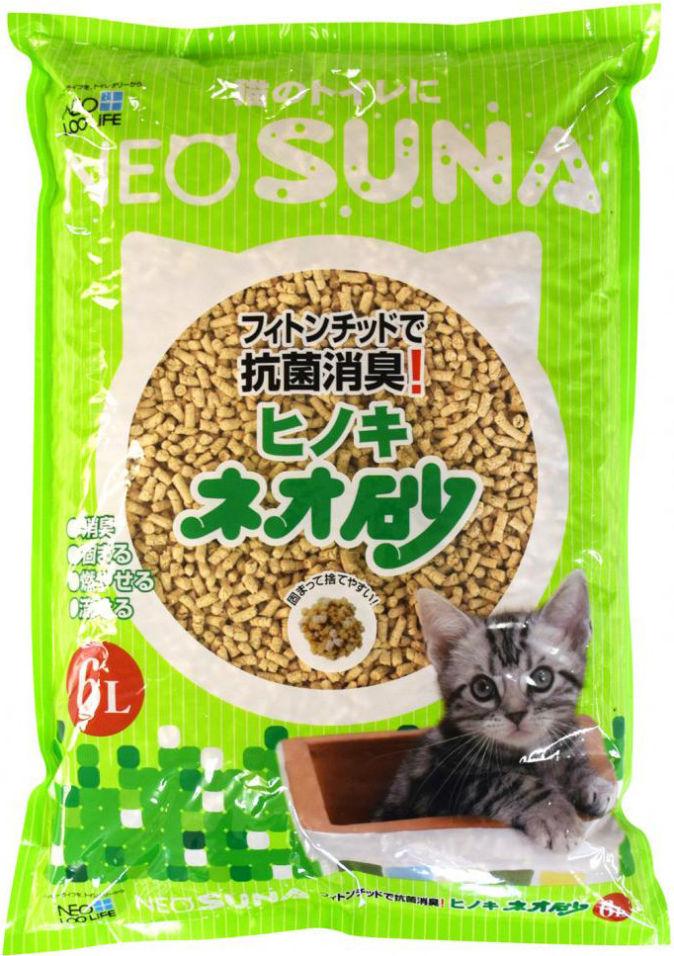 Наполнитель для кошачьего туалета Neo Loo Life комкующийся на основе древесины 6л