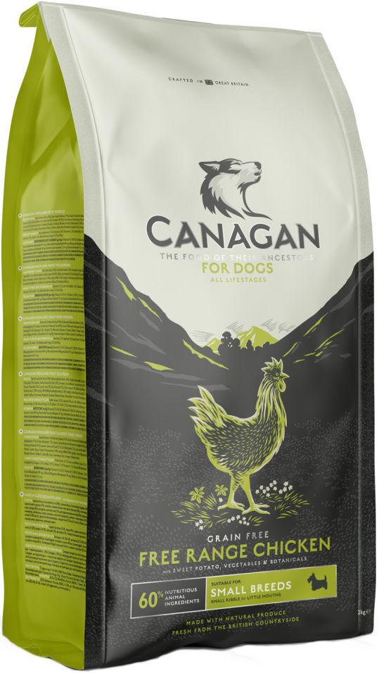 Сухой корм для собак Canagan Free-Run Chicken для мелких пород Цыпленок 2кг