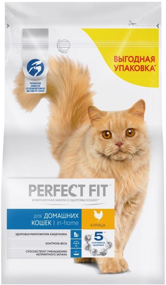 Сухой корм для кошек Perfect Fit In-Home с курицей 2.5кг