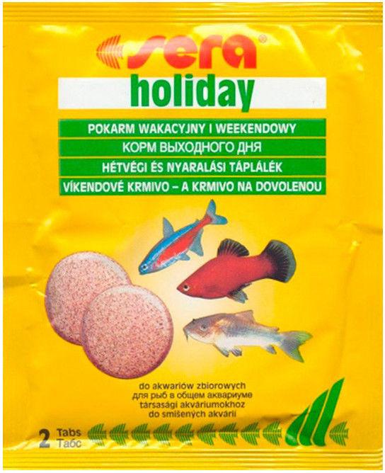 Корм для рыб Sera Holiday 2 таблетки
