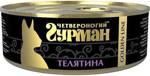 Корм для кошек Четвероногий Гурман Golden Line Телятина 100г