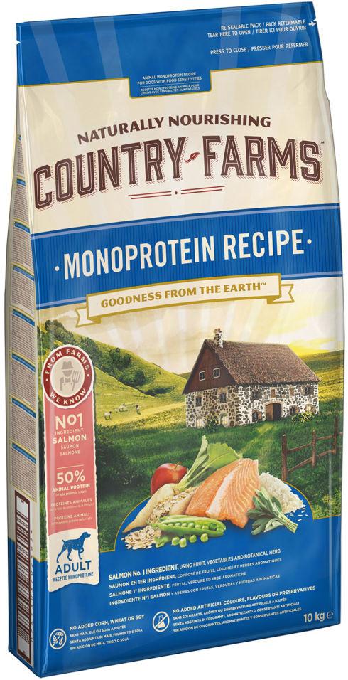 Сухой корм для собак Country Farms Monoprotein Recipe с лососем 10кг