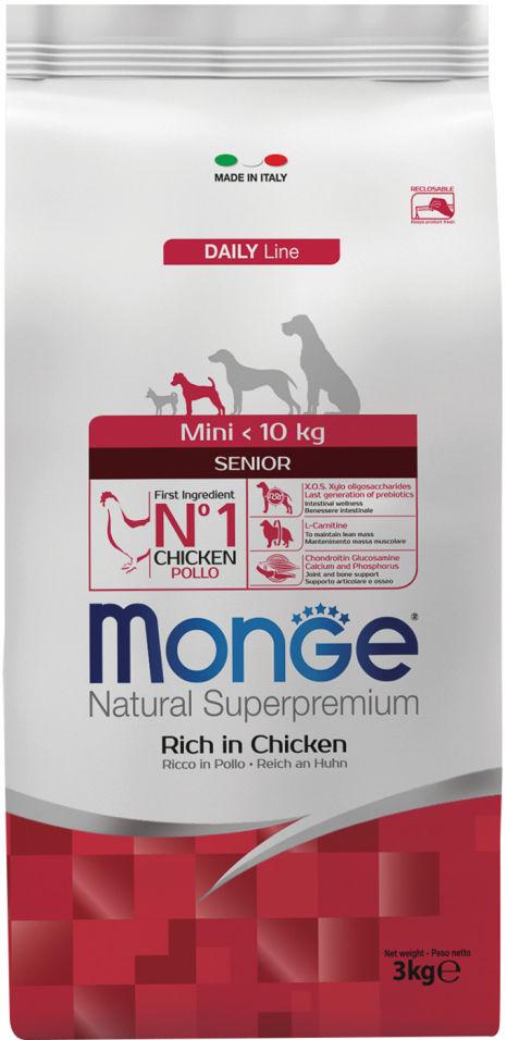 Корм для пожилых собак Monge Dog Mini для мелких пород 3кг