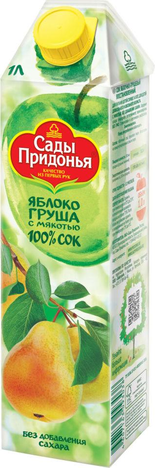 Сок Сады Придонья Яблоко-груша с мякотью 1л