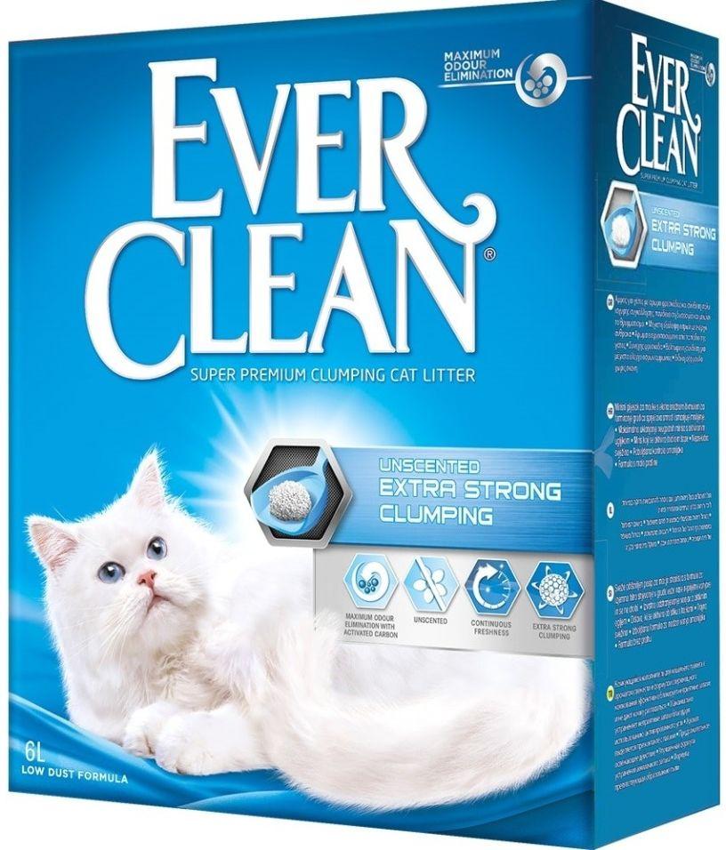 Наполнитель для кошачьего туалета Ever Clean Extra Strong Clumping Unscented без ароматизатора 6л