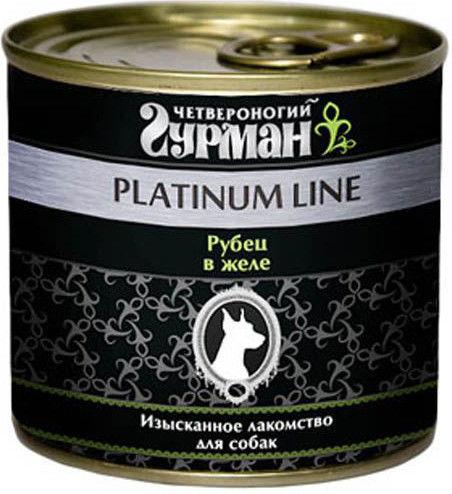 Корм для собак Четвероногий Гурман Platinum Line Рубец в желе 240г