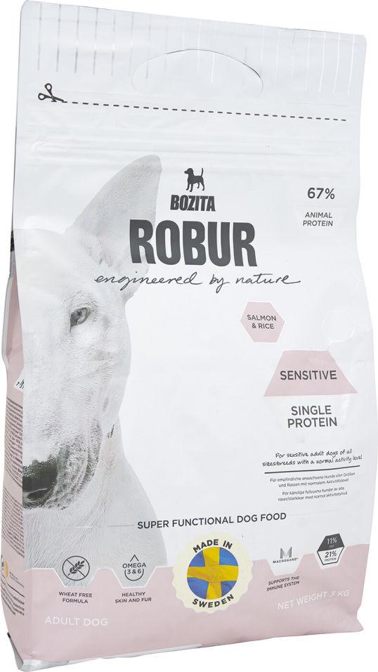 Сухой корм для собак Bozita Robur Sensitive Single Protein с лососем и рисом 3кг