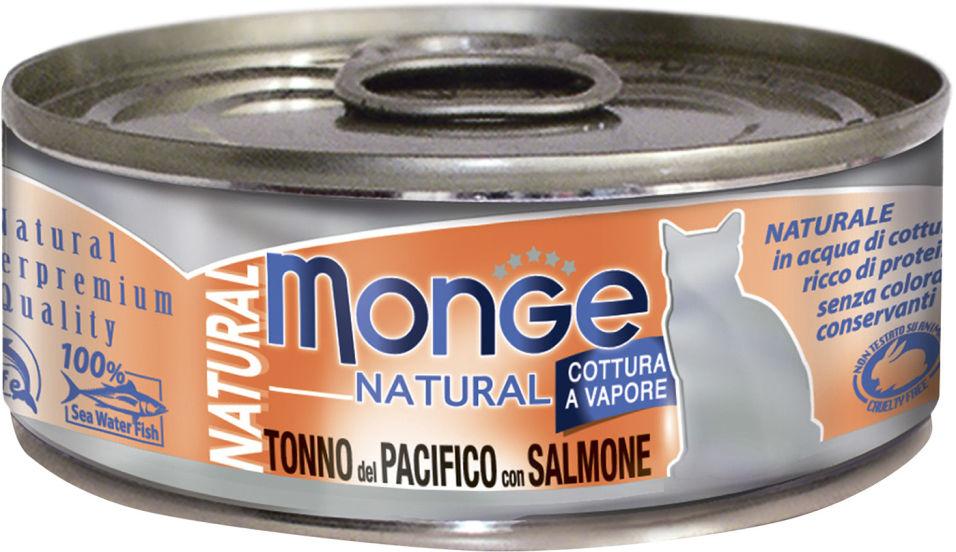 Корм для кошек Monge Cat Natural Тихоокеанский тунец с лососем 80г
