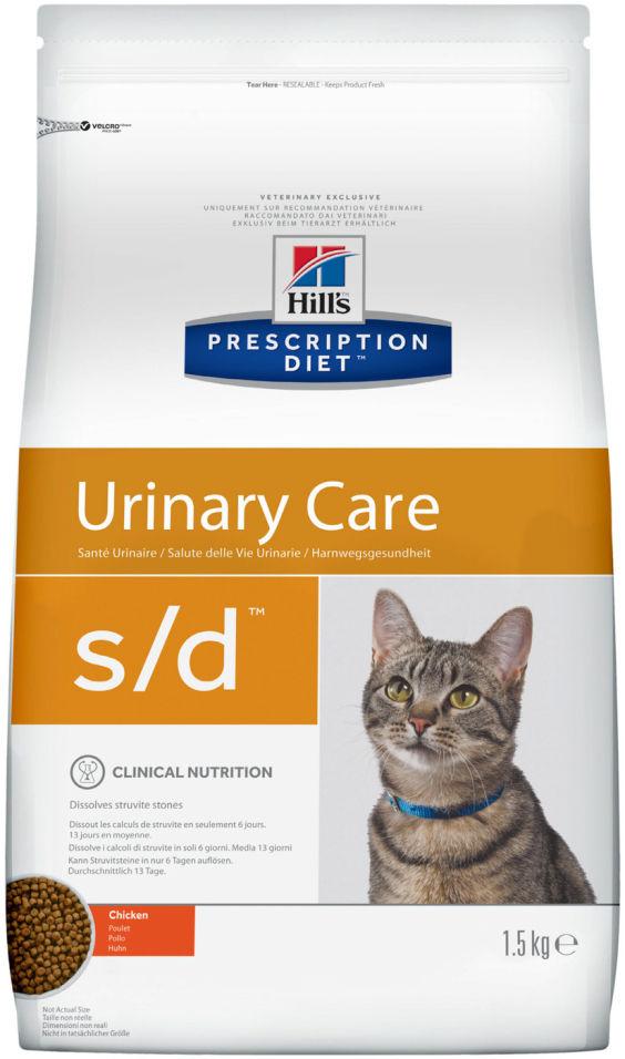 Сухой корм для кошек Hills Prescription Diet при лечении МКБ с курицей 1.5кг