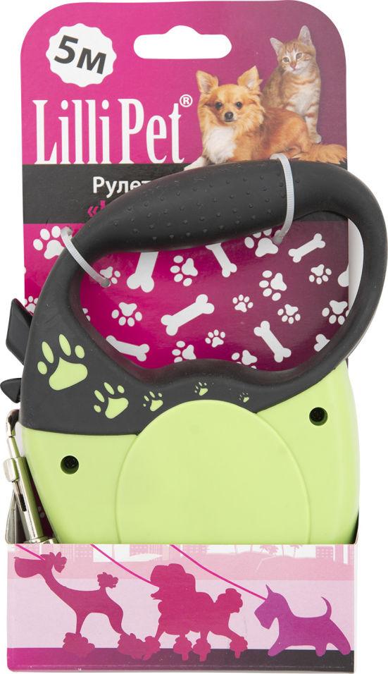 Поводок-рулетка Lilli Pet для собак S 5м 30кг зеленый