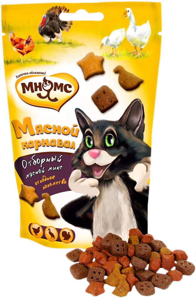 Лакомство для кошек Мнямс Мнямс Мясной карнавал утка индейка курица 50г